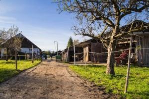 Hof des  Reit- und Zuchthofes Strobl im Salzkammergut