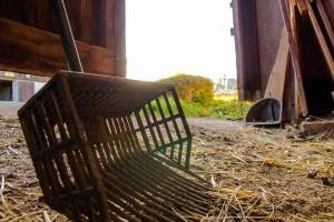 Mistgabel am  Reit- und Zuchthofes Strobl im Salzkammergut